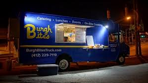 What Can You Say About A Food Truck That Has The Pittsburgh Skyline Painted Across Back Of It Well If Is Burgh Bites Catering