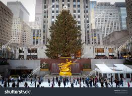 Flagpole Christmas Tree Uk by New York December 26 Rockefeller Center Stock Photo 125680823