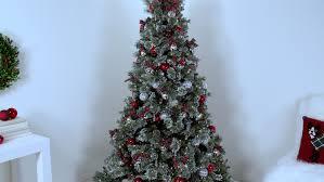Flocking Powder For Christmas Trees by Martha U0027s Christmas Decorations White Flocked Tree Martha