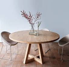 100 Round Oak Kitchen Table And Chairs Cross Leg Dining Whitewashed Teak 160 Home Furniture