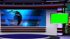4K Isolated News Desk For Virtual Sets This News Desk Is In 4k
