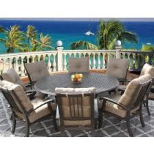 8 Person Patio Table by Elisabeth Outdoor Patio 7pc Set With Series 5000 71