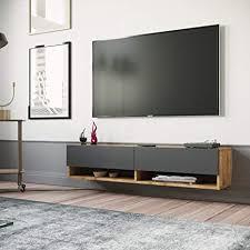 yurupa tv board hängend lowboard hängeschrank hängeboard wohnwand dunkel anthracite fr11 aa