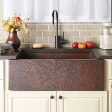 copper farmhouse kitchen sink native trails