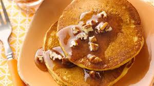 Easy Healthy Pumpkin Pancake Recipe by Spicy Pumpkin Pancakes Recipe Bettycrocker Com