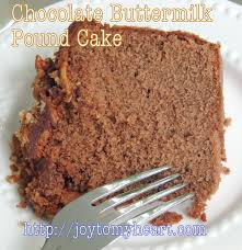 chocolate buttermilk pound cake slice