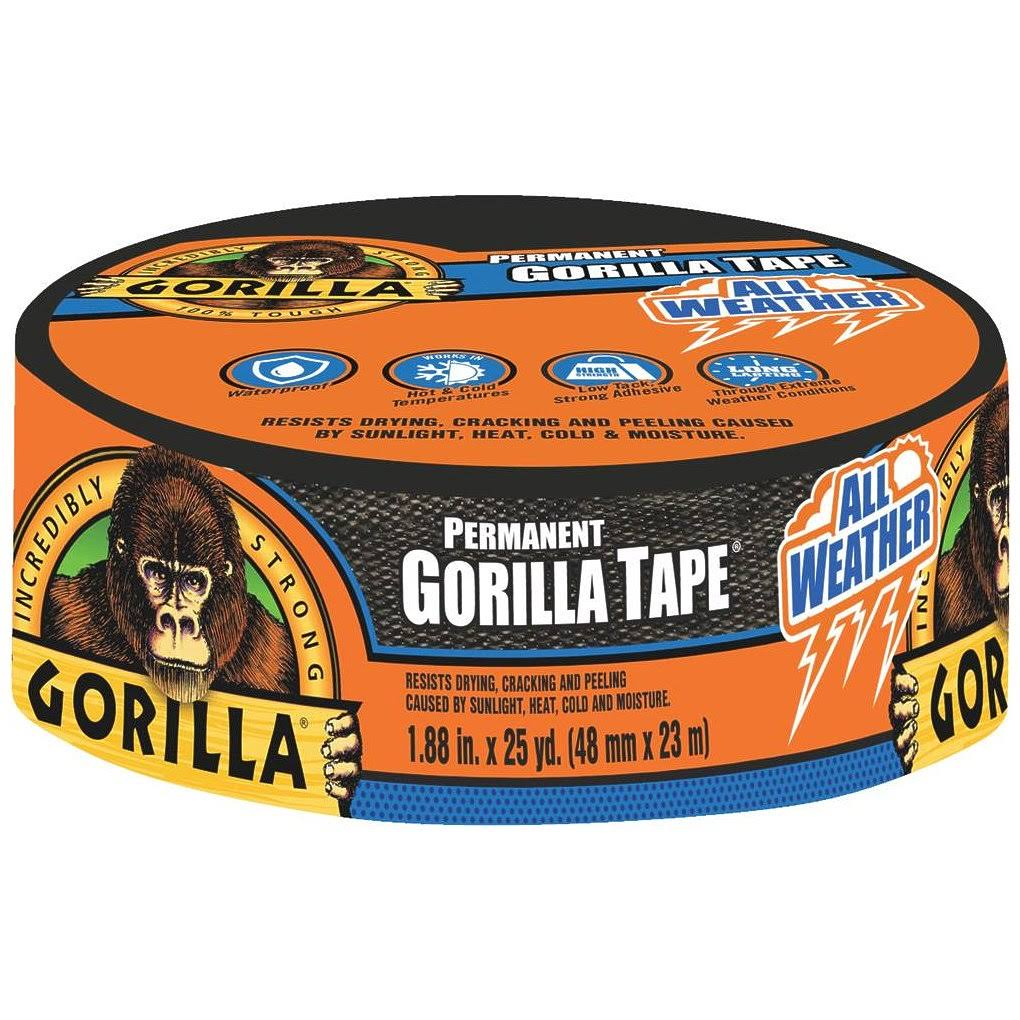 Gorilla Duct Tape - Black, 25yd x 1.88""