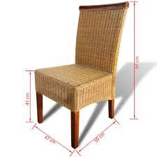 esszimmerstühle 2 stk braun natur rattan heimxl de