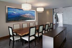 modern dining room design with 10 person rectangular dining room