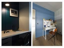 bureau plan de travail ikea a une réhabilitation complète qui met en évidence couleurs