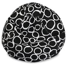 Majestic Home Goods Fusion Classic Bean Bag Chair Color Black