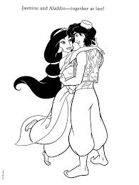 Coloriage Jasmine Et Aladdin Gratuit ColoriageMandalaDownload