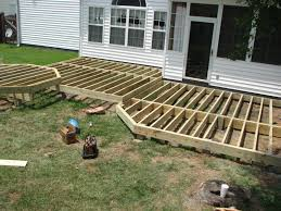 deck lowes deck tiles wood deck footings ground level deck plans
