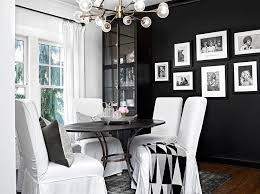 White And Black Dining Room With Cremone Bolt China Cabinet