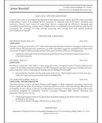 Cook Resume Examples Templates Assistant Sample Lead Download