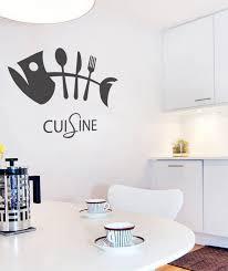 sticker cuisine sticker enseigne cuisine poisson couvert stickers cuisine ghostick
