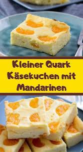 kleiner quark käsekuchen mit mandarinen mandarinen quark