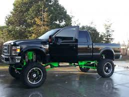 Hekka Cool Black And Green Ford Truck With A Hekka Big Lift! So Cool ...