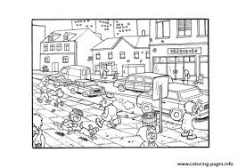 Crowded City S9cb6 Coloring Pages