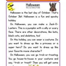 Halloween Multiplication Worksheets Grade 5 by Halloween Reading Comprehension Worksheet