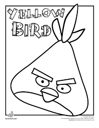 Angry Birds Coloring Pages Yellow Bird Cartoon Jr