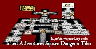 Dungeons And Dragons Tiles Sets by Inked Adventures Square Dungeon Tiles Inked Adventures