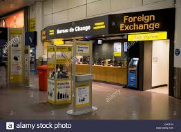 bureau de change kanoo exchange change shop signs stock photos exchange
