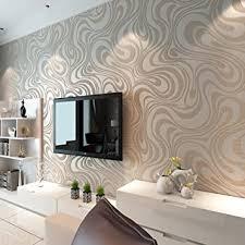 ketian moderne 3d abstrakte kurve tapete vlies beflockungsstreifen für wohnzimmer schlafzimmer tapetenrollen 0 7 m 2 29 w x 8 4 m 27 56 l
