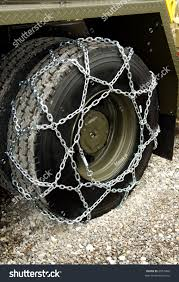 Snow Chains On Truck Wheel Stock Photo (Edit Now) 6057406 - Shutterstock