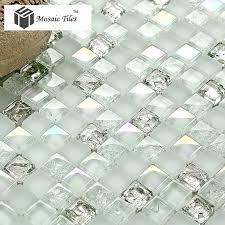 Iridescent Mosaic Tiles Uk by White Iridescent Mosaics Glass Silver Kitchen Backsplash Tile