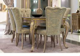 casa padrino luxury baroque dining room set green gold gray 1 dining table 6 dining chairs magnificent dining room furniture in baroque
