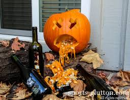 Puking Pumpkin Guacamole Dip by Monday Morning Humor Sportsglutton