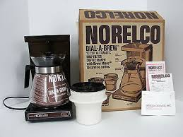 VINTAGE 1979 NORELCO 10 CUP DIAL A BREW DRIP COFFEE MAKER NO HB