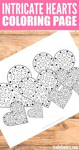 Detailed Christmas Coloring Pages Free Printable Difficult Online Intricate Abstract Hearts Page Full Size