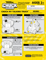 99 Chuck The Talking Truck Tonka My Talking Truck 6918670002 User Manual 2 Pages