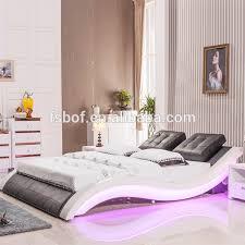 schlafzimmer möbel leder bett mit blau led licht und musik therapie betten a021 buy leder bett mit led licht blau licht bett led licht therapie