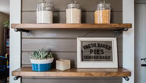 Create Rustic Shelves with Galvanized Pipe