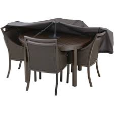 Square Patio Tablecloth With Umbrella Hole by Classic Accessories Patio Table Storage Cover Support Pole Black