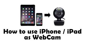 How to use iPhone iPad as Webcam