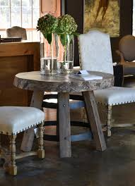 Round Sidetable With Camphor Top And Dakkappe Iron Base