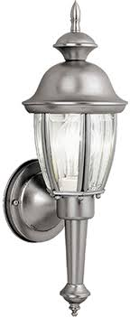 vaxcel ow3112bn capitol brushed nickel outdoor wall lighting