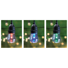 30 foot color changing led string lights feit electric