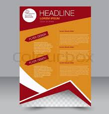 Abstract Flyer Design Background Brochure Template Can Be Used For Magazine Cover Business Mockup Education Presentation Report Red And Orange Color