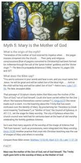 Myth 5 Mary Is Gods Mother Jworg