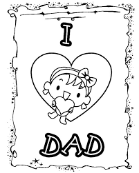 Happy Father Day Card I Love Dad Coloring Pages