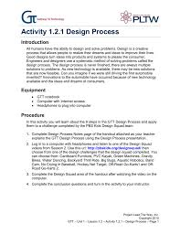 Activity 1 2 1 Design Process Introduction