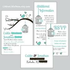Good Order Of Wedding Invitation Inserts For Birdcage Love Birds Cheap Beautiful