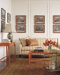 Formal Living Room Furniture Ideas by Gorgeous Wooden Artwork Portray Frames Hang On White Wall Added
