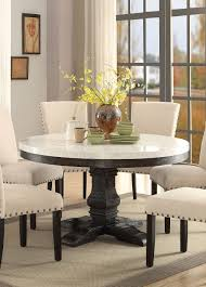 Ortanique Dining Room Furniture by Nolan Modern White Marble Top Black Mdf Round Pedestal Dining