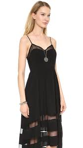 re named lacey high low dress black in black lyst